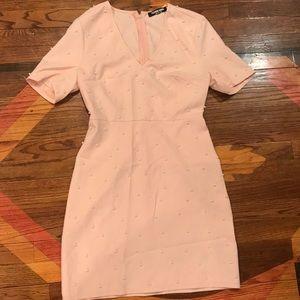 Light Pink Pearl Mini Dress